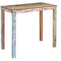 vidaXL Tavolo da Pranzo in Legno Massello di Recupero 115x60x107 cm