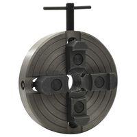 vidaXL Mandrino Legno a 4 Griffe Connessione Acciaio Nero M33 150x63mm