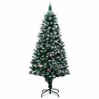 vidaXL Albero di Natale Artificiale con Pigne e Neve Bianca 180 cm
