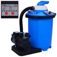 vidaXL Pompa con Filtro a Sabbia con Timer 550 W 50 L