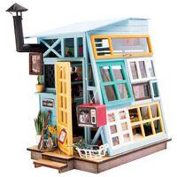 Robotime Kit in Miniatura Fai da Te Wooden Hut con Luce LED