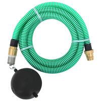 vidaXL Tubo di Aspirazione con Connettori in Ottone 5 m 25 mm Verde