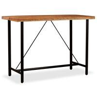 vidaXL Tavolino da Bar in Legno Massello di Acacia 150x70x107 cm