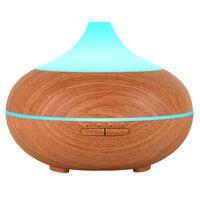 Umidificatore ad ultrasuoni con lampada aromatica 500 ml marrone chiar