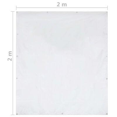 vidaXL Parete Laterale per Gazebo 2x2 m Bianca 550 g/m²