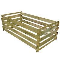 vidaXL Compostiera a Stecche Pino Impregnato 160x80x58 cm