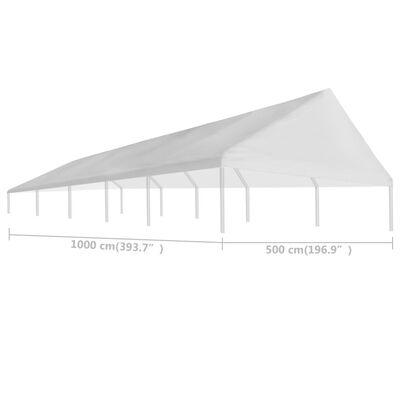 vidaXL Tetto per Tendostruttura 5 x 10 m Bianco