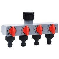 vidaXL Timer Irrigazione Automatico da Giardino con Valvola a 4 Vie