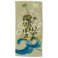 Good Morning Telo da Spiaggia SURF GEEK 75x150 cm Verde