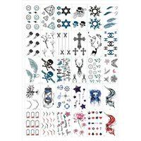 Sfregamento - tatuaggi temporanei 30 fogli con motivi misti