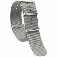 Cinturino per orologio 22 mm nylon Natoband - grigio