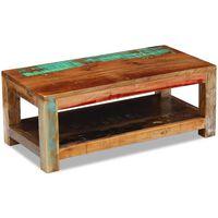 vidaXL Tavolino da Caffè in Legno Massello di Recupero 90x45x35 cm
