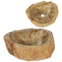 vidaXL Lavandino 45x35x15 cm in Pietra Fossile Crema