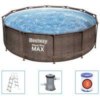Bestway Set Piscina Steel Pro MAX Deluxe Series Rotonda 366x100 cm
