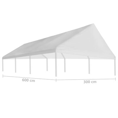 vidaXL Tetto per Tendostruttura 3 x 6 m Bianco