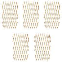 vidaXL Recinzione a Traliccio 5 pz in Legno Massello 180 x 90 cm
