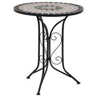 vidaXL Tavolino da Bistrot con Mosaico Grigio 61 cm in Ceramica