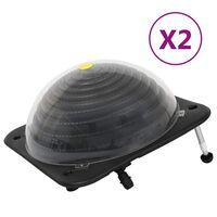 vidaXL Riscaldatori Solari per Piscina 2 pz 75x75x36 cm HDPE Alluminio