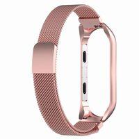 Bracciale Xiaomi Mi Band 3/4 in acciaio inossidabile rosato rosa