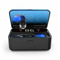 Cuffie intrauricolari wireless Bluetooth 5.0 con touch / blu