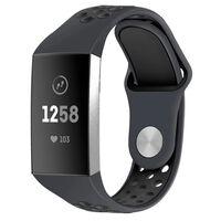 Bracciale Fitbit Charge 3 in silicone grigio / nero - S