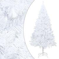 vidaXL Albero di Natale Artificiale con Rami Folti Bianco 150 cm PVC