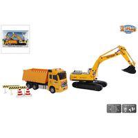 2-Play Camion 17 cm con Scavatrice 22 cm