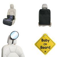 A3 Baby & Kids Set di Accessori per Sedili Auto Bambini 4 pz Nero