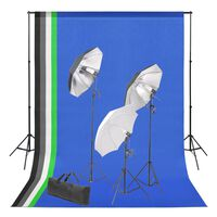 vidaXL Set Studio Fotografico con Sfondi e Kit Luci