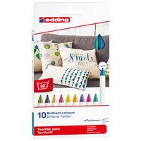 edding Pennarello per Tessuti 10 pz Multicolore 4600