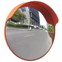 vidaXL Specchio per Traffico Convesso Plastica PC Arancione 45 cm