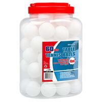 Get & Go Palline per Tennis da Tavolo 60 pz in ABS Bianche