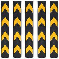 vidaXL Protezioni Angolari Riflettenti 5 pz in Gomma 80 cm