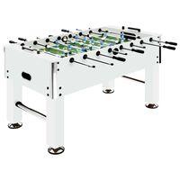 vidaXL Tavolo Calcio Balilla in Acciaio 60 kg 140x74,5x87,5 cm Bianco