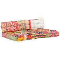 vidaXL Cuscino per Divani Pallet Multicolore in Tessuto Patchwork