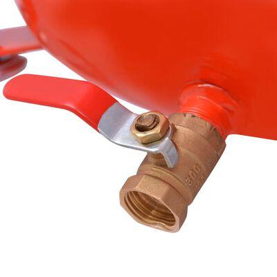 vidaXL Scolatoio Olio di Scarto 49,5 L Acciao Rosso