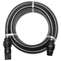 vidaXL Tubo di Aspirazione con Connettori 4 m 22 mm Nero