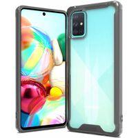 Custodia per telefono cellulare Samsung Galaxy A71 - trasparente / ner