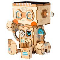 Robotime Kit di Costruzione Vaso Fiori Robot