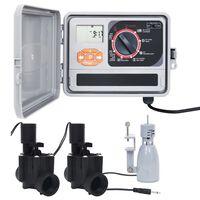 vidaXL Regolatore Irrigazione con Sensore Pioggia e Elettrovalvola