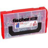 Fischer Set di Tasselli con Viti FIXtainer DUOPOWER/DUOTE 200 pz