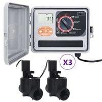 vidaXL Sistema di Controllo Irrigazione da Giardino a 6 Elettrovalvole
