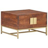 vidaXL Tavolino da Caffè Marrone Miele 67x67x45 cm in Massello Acacia