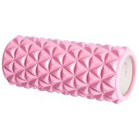 Pure2Improve Rullo per Yoga 33x14 cm Rosa e Bianco
