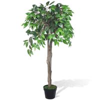 vidaXL Albero di Ficus Artificiale con Vaso 110 cm