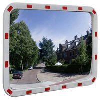 vidaXL Specchio Traffico Convesso Rettangolare 60x80cm Catarifrangenti