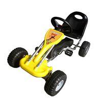 vidaXL Go Kart Cavalcabile a Pedali Giallo