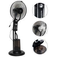 vidaXL Ventilatore Nebulizzatore a Piedistallo a 3 Velocità Nero