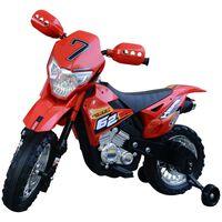 Homcom Moto Cross Elettrica per Bambini, Rosso, 107x53x70cm