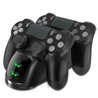 Caricatore doppio per due controller PS4 / PS4 Slim / PS4 Pro
